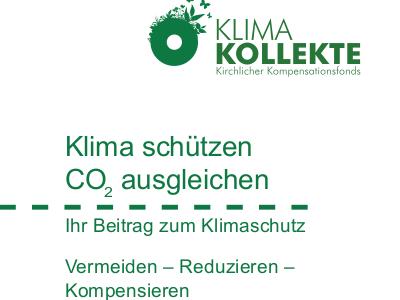 Bild: Ausschnitt Infoflyer Klima-Kollekte