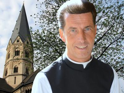 Dr. Wolfgang Picken, Stadtdechant von Bonn und Pfarrer am Bonner Münster, Foto: (c) Stadtdekanat Bonn /Dahmen, Montage: KIP