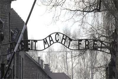 der Eingang zum KZ Auschwitz