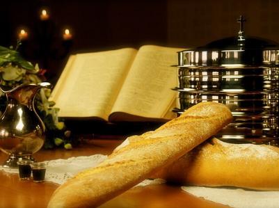 das Abendmahl: Brot und Wein