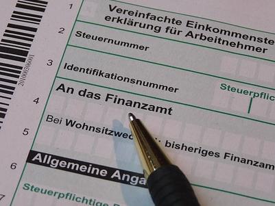 Steuerformular für das Finanzamt