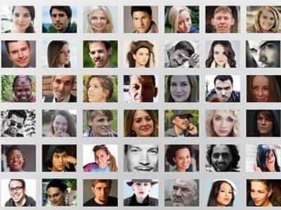 Bildergalerie mit 42 kleinen Portraitfotos