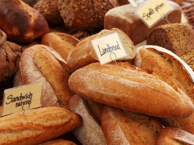 eine Auswahl verschiedener Brote
