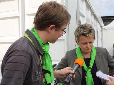 Radiointerview mit der Vorsitzenden der Bundestagsfraktion Bündnis 90/Die Grünen, Renate Künast