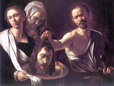 Gemälde von Caravaggio mit dem Titel 'Salome mit dem Kopf Johannes' des Täufers'
