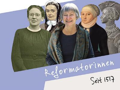 Grafik mit Frauen der Reformation aus 500 Jahren