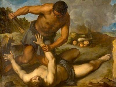 Gemälde von 1603 zeit den biblischen Brudermord: Kain erschlägt Abel