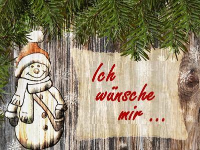 Wandtafel mit Schneemann