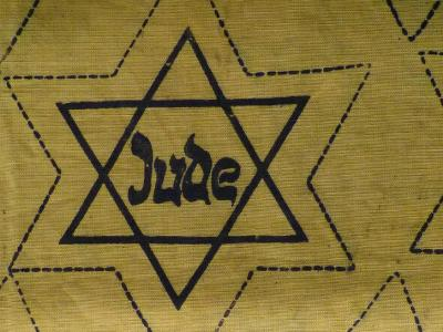 gelber Judenstern aus der Nazi-Zeit