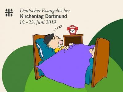 Logo Evangelischer Kirchentag 2019 mit Bett
