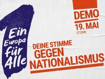 Plakat mit Aufruf zur Demo am 19. Mai 2019