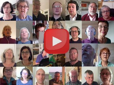 Online-Chor aus vielen Einzelbildern