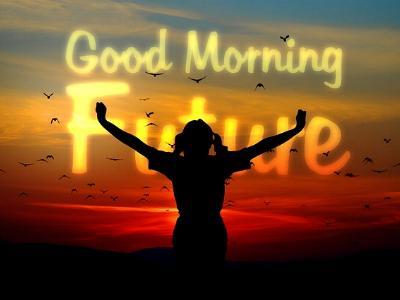 Schriftzug Good Morning Future