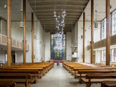 Innenraum der Gelsenkirchener Pauluskirche