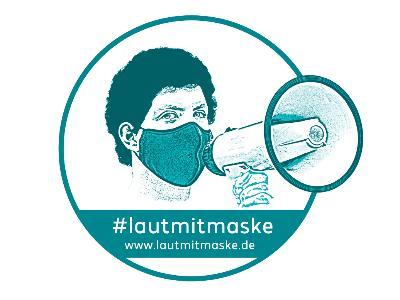 Logo der Aktion LautmitMaske.de