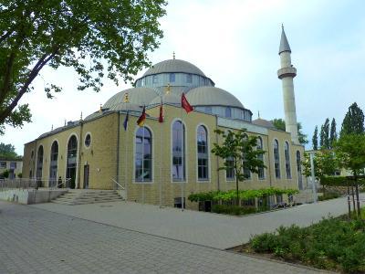 Die 2008 eröffnete Moschee in Duisburg-Marxloh.